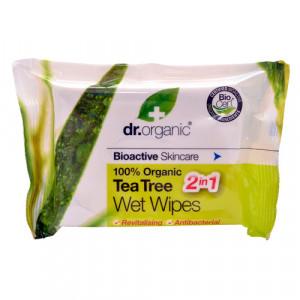 Dr. Organic Tea Tree Wet Wipe (20 stk)