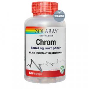 Solaray Chrom med Kanel og Sort Peber (120 kapsler)
