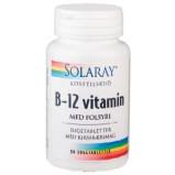 Solaray - B-12 vitamin med folsyra (90 tabletter)