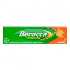 Berocca Perfomance Brusetabletter med appelsinsmag.