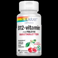 Solaray B-12 vitamin med folsyre (90 tabletter)