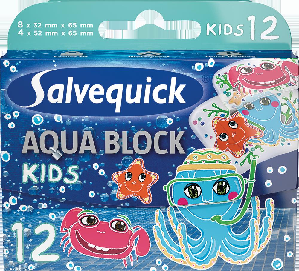 Salvequick Aqua Block Kids (12 st)
